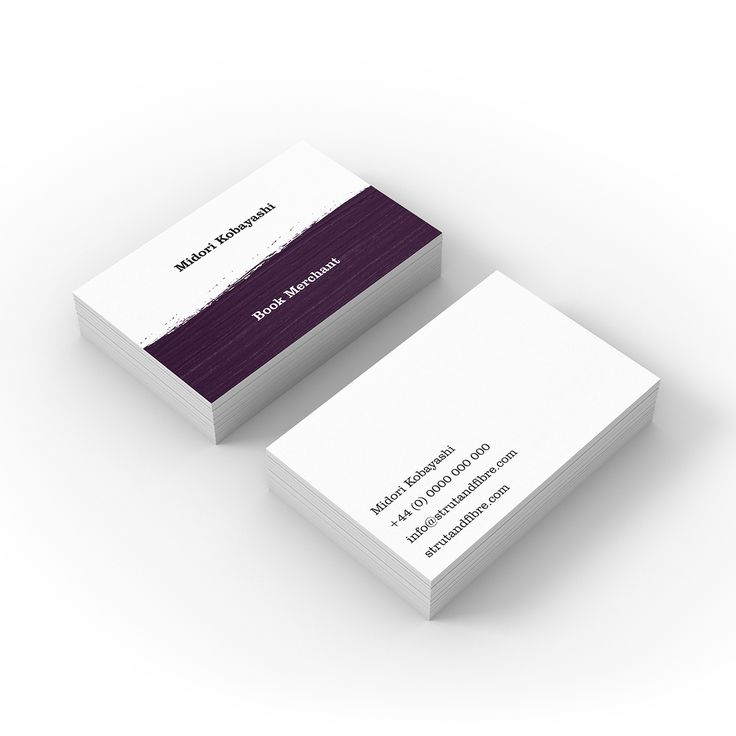 Kobayashi – one of our Texture business card templates available to customise and order on our site.