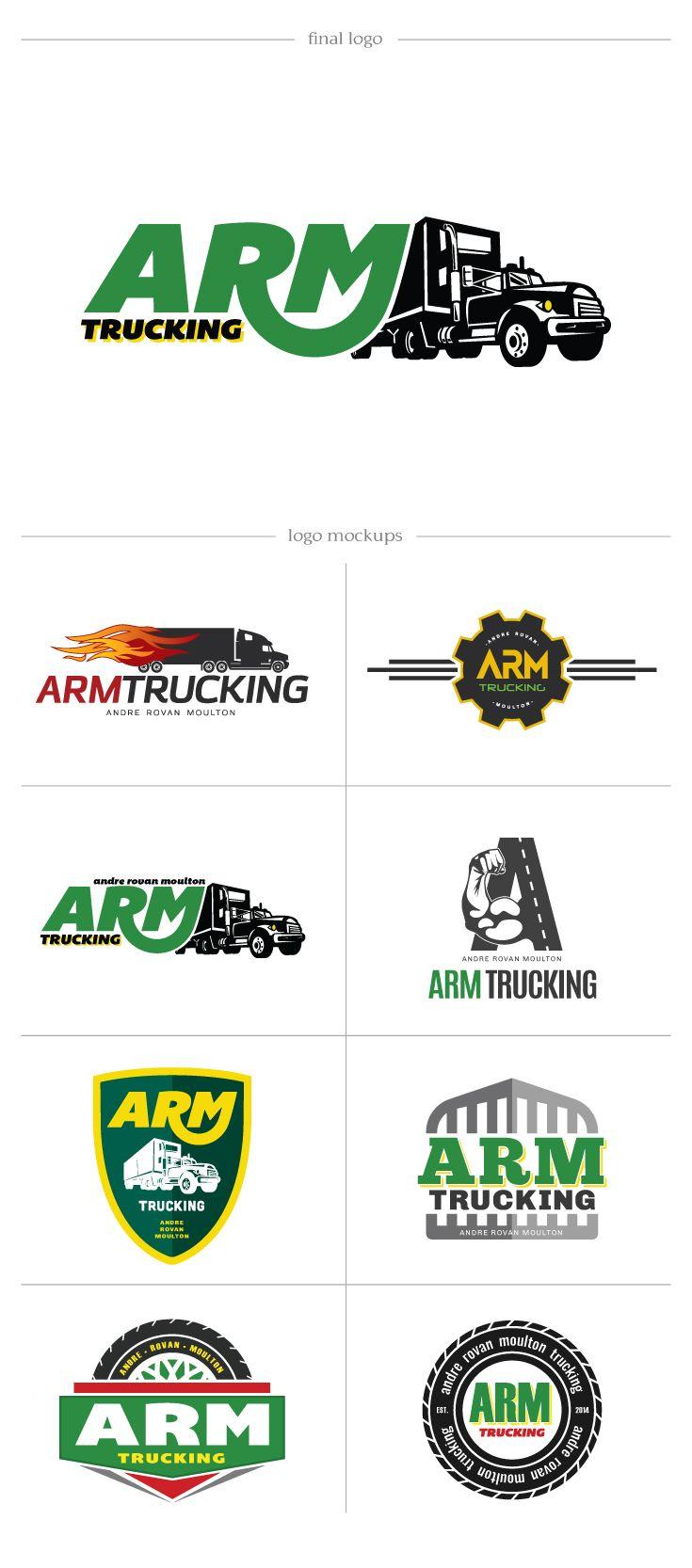 ARM Trucking - DesAutels Designs | logo development process