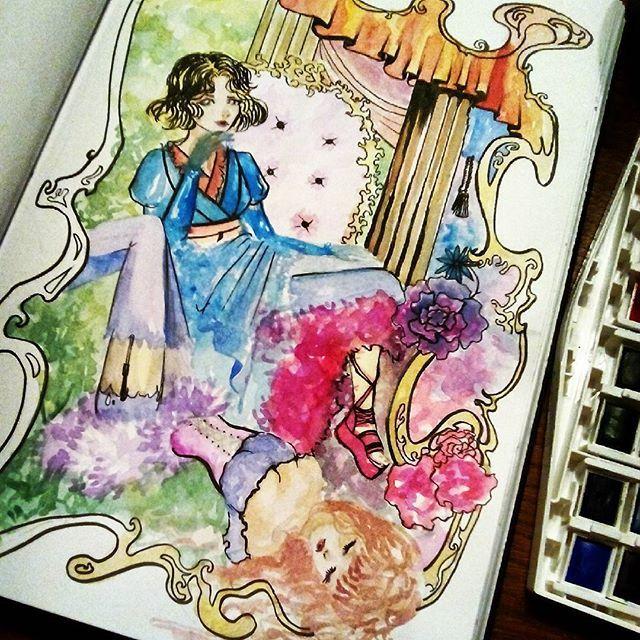 #sketch #watercolour #manga #anime #characterdesign