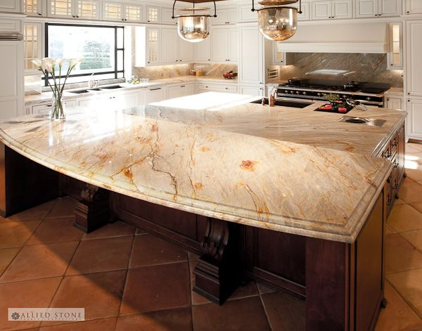 Exotic Brazilian Dream Quartzite On The Large Island In This #Dallas Home  ***