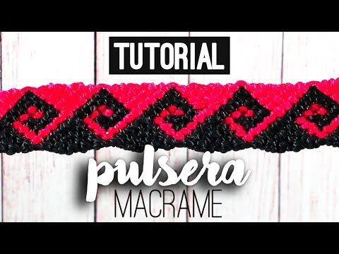 Pulsera ola griega ♥︎ macramé (English subtitles)   Tutorial   How to - YouTube