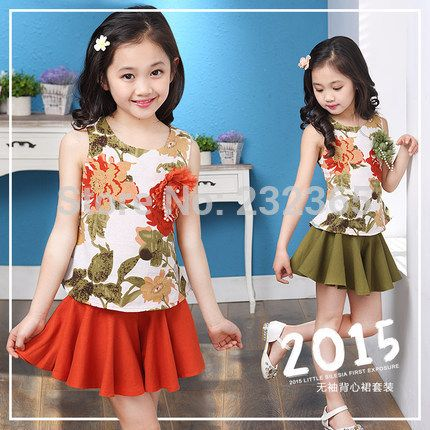 Cheap Clothing Sets on Sale at Bargain Price, Buy Quality Clothing Sets from China Clothing Sets Suppliers at Aliexpress.com:1,Sleeve Length:Sleeveless 2,Department Name:Children 3,Style:Fashion 4,Model Number:P1588 5,Material:Cotton,Linen
