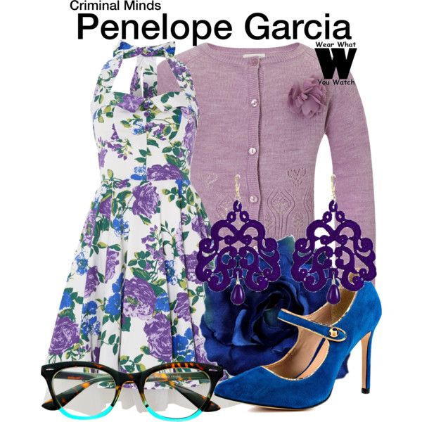 Inspired by Kristen Vangsness as Penelope Garcia on Criminal Minds.