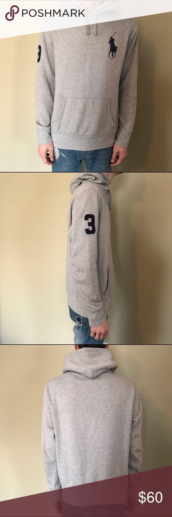 Polo by Ralph Lauren Hoody Gray. Lightly worn. Snug fit. Polo by Ralph Lauren Shirts Sweatshirts & Hoodies