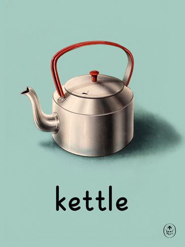 K is for Kettle Art Print by Ladybird Books, King and McGaw.