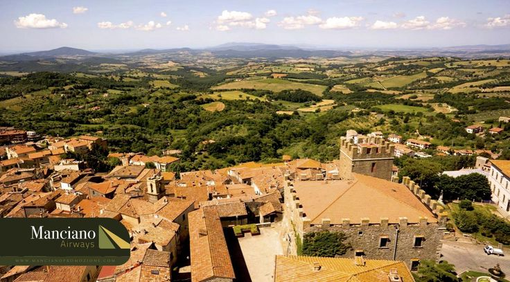 Scan the image with the Free @Layar App to see the amazing landscape of Manciano, Italy.