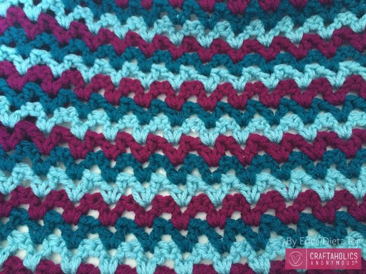 Looking for an Easy Crochet Baby Blanket tutorial? Check this one out! Fun pattern and fun to make!   Easy Crochet Baby Blanket Hi everyone, Erica here from 5 Little Monsters sharing another crochet pattern with you. Today I thought I would share