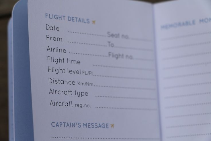 Featuring easy-to-use pages to record flight details and capturing a special message from the Captain, your child's flight logbook will quickly become a treasured keepsake, even if they are too young to remember the flight.