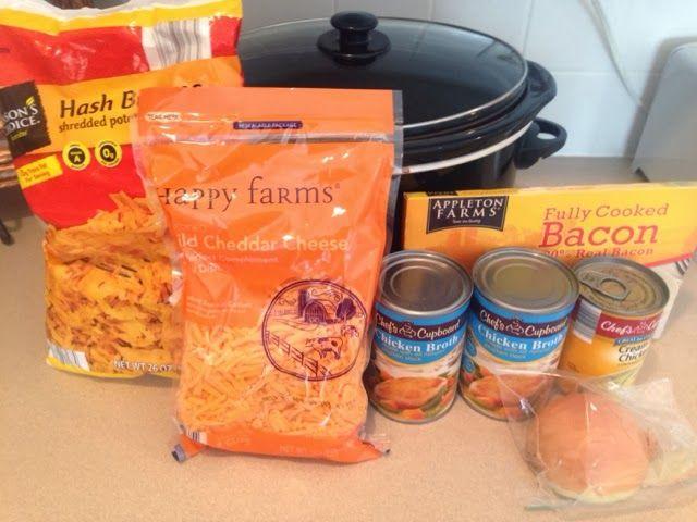Wishes do come true...: Potato Soup Crockpot Easy soup 3 steps done when you get home from work. Aldi recipes @Lori Amendola Baraldi USA