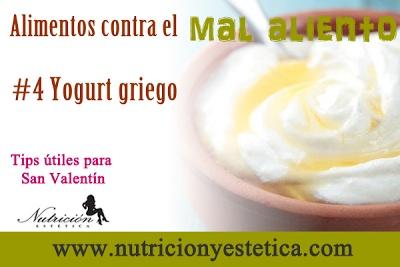 No es sólo un tentempié sano, el yogur también puede ser bueno contra el mal aliento. El yogurt griego baja el sulfuro de hidrógeno en la boca.....    Para mas informacion encuentranos en: http://nutricionylaestetica.blogspot.com/2013/02/4-yogurt-griego-alimentos-contra-el-mal.html