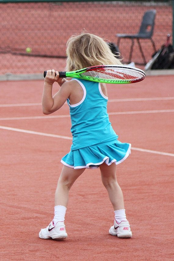 Girls Tennis Skirt And Vest Outfit Pleated By