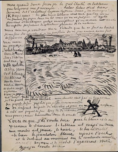 Another Van Gogh letter - I love how his sketches randomly interrupt his writing. :)