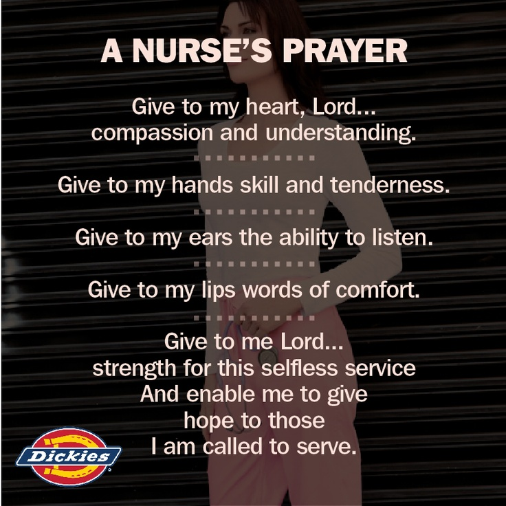 This is why we <3 nurses! A nurses prayer!!!! Great prayer to live by, all the reasons I became a nurse! #ScrubsMagGiveaway