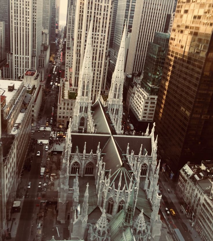 Photo taken from the Lotte New York Palace, St Patrick's Cathedral, Catholic, New York, Manhattan, Midtown, Madison Avenue, 50th