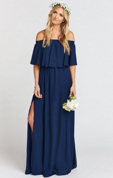 Hacienda Maxi Dress ~ Rich Navy Crisp | Show Me Your MuMu