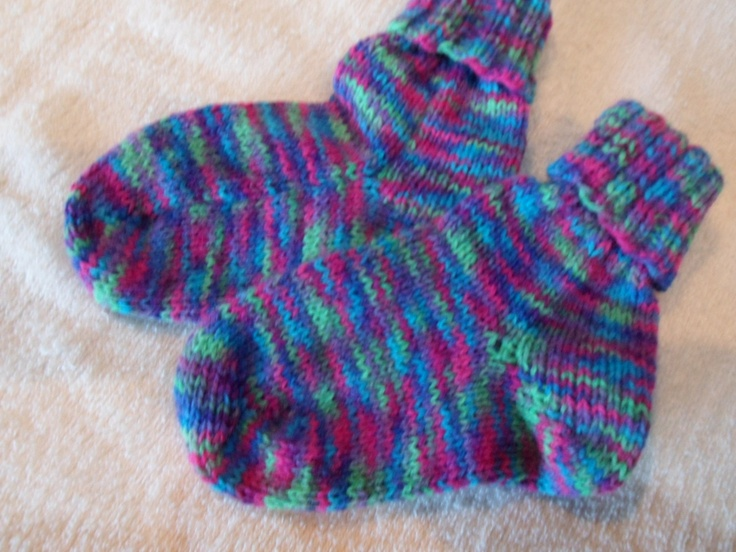 Socks made on my knitting machine