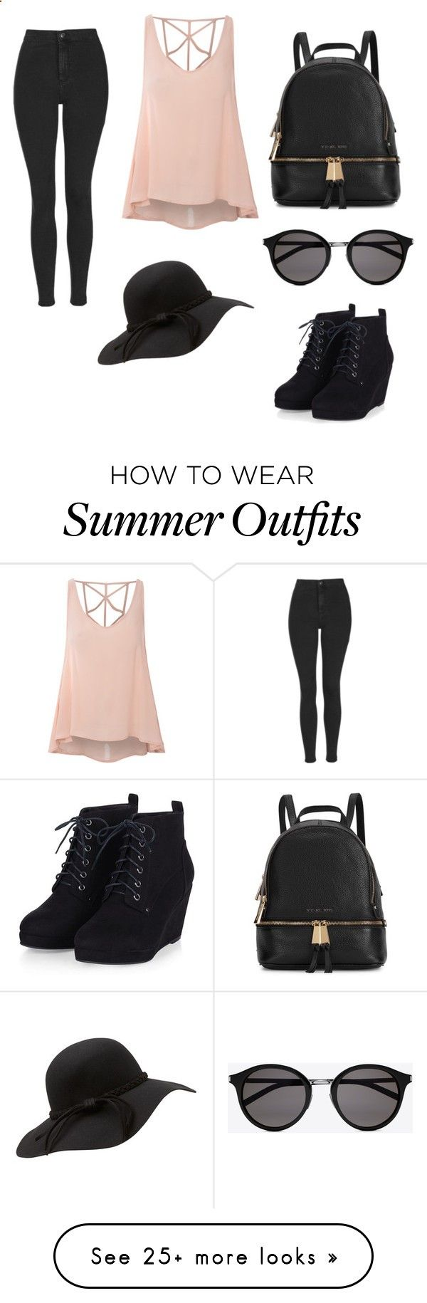 Summer shopping outfit by annatoms on Polyvore featuring Topshop, Glamorous, Michael Kors, Yves Saint Laurent, womens clothing, women, female, woman, misses and juniors