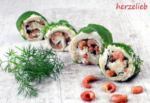 Krabbenbrot-Sushi! Lächeln, naschen, genießen