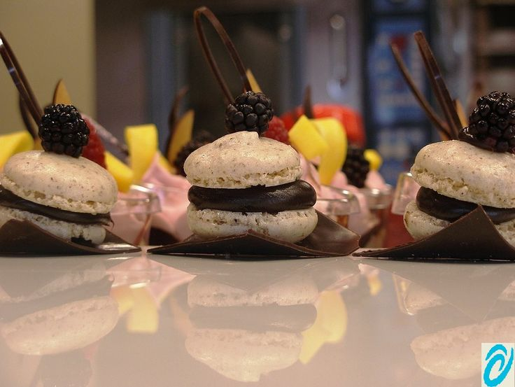 Walnut Macarons with Chocolate Orange Ganache