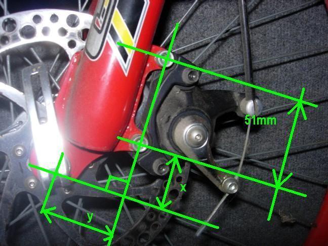 dimensions fixations étrier de frein à disque