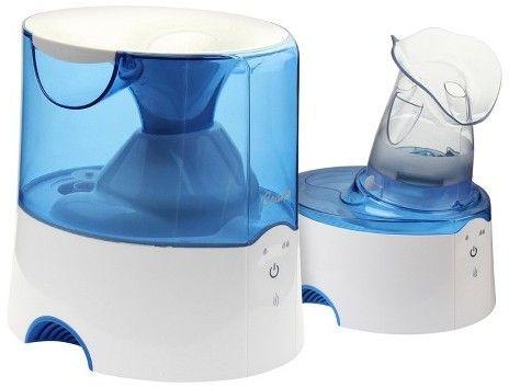 Crane 2-in-1 Warm Mist Steam Inhaler Humidifier 0.5 Gallon - Blue & White