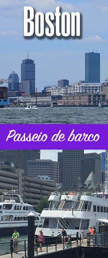 Como é o passeio de barco em Boston
