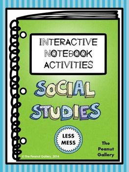 This 121 page resource involves tons of activities (with LESS MESS) to add some creativity and color to your social studies interactive notebooks. The activities apply easily to most areas covered in social studies, and each activity comes with detailed suggestions and ideas about how to use it in your classroom.($)
