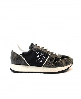 #SNEAKERS TRUSSARDI JEANS GRIGIO NERO. #beautiful  #fashion  #glam #love #Outfit  #shopping #style