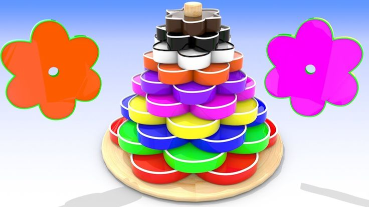 Learn shapes and Colors from Wooden Toy for Kids Toddlers Preschoolers  ...