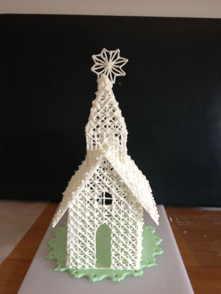 Royal icing church cake topper | Cake topper | Pinterest ...