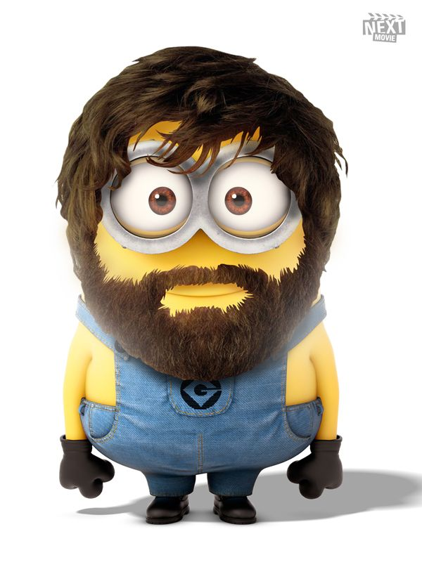 Zach Galifianakis Minion #DespicableMe http://www.nextmovie.com/blog/despicable-me-2-minions/ #TheHangover