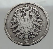 1874 A  WILHELM I of GERMANY  1 Mark  German Empire Silver Coin Eagle i62964 http://lukebadcoe.blogspot.com/2017/09/1874-wilhelm-i-of-germany-1-mark-german_31.html