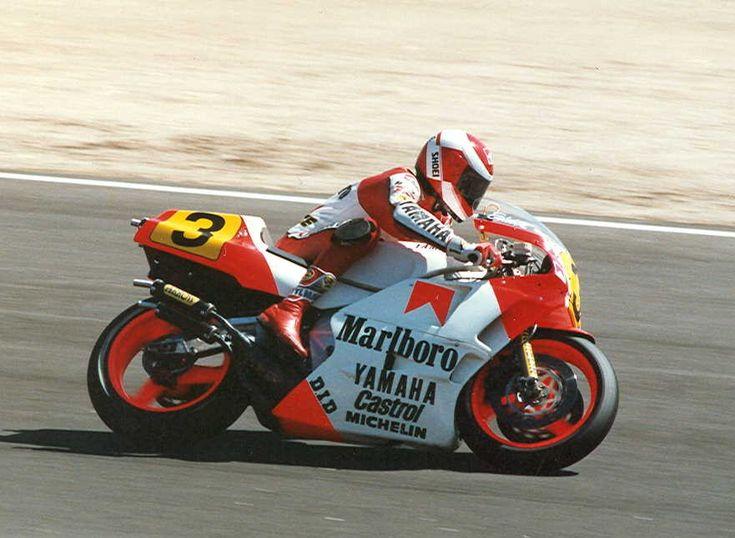 Eddie lawson on the yamaha yzr 500cc fim roadracers for Yamaha 500cc sport bikes