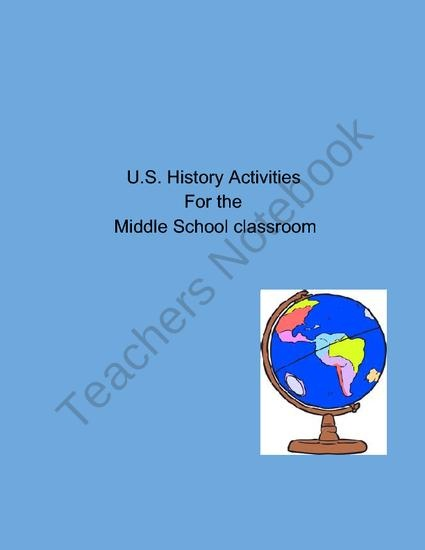 Activities for the US History Classroom product from Ruegers-Room on TeachersNotebook.com