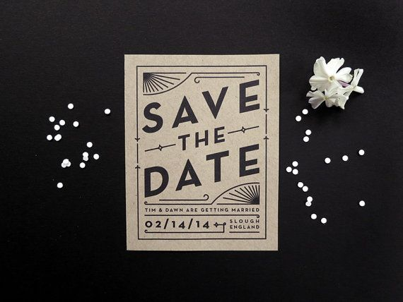 Digital Wedding Save the Date Art Deco Vintage by TortoiseBelly
