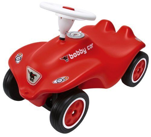 Big Bobby Car Red by Big Products. $104.99. BIG Bobby Cars - This European award-winning push-powered vehicle is perfect for children ages one-year and up. Over six million Bobby Cars have been sold worldwide making it the worlds best selling toy car. What makes these toys so popular is the large steering wheel, comfortable seat and smooth wheel motion. The BIG Bobby Car will turn your driveway into the Autobahn. The functional steering makes kids feel like grown-ups as they...