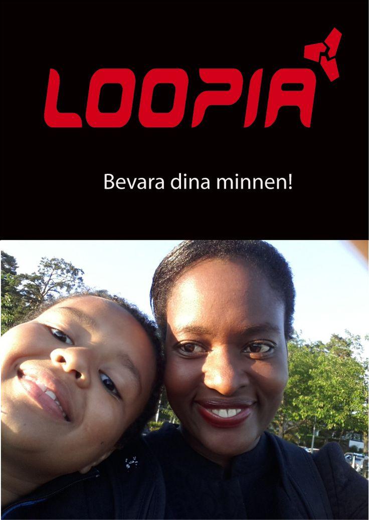Loopias 15 year anniversary and saving memories and precious work on Loopias internet servers.