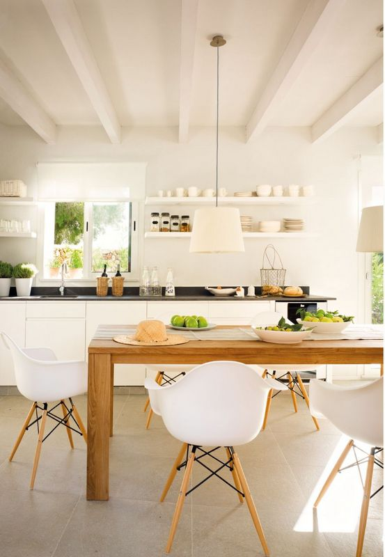 Sometimes simple is best.: Cottages Kitchens, Home, Architecture Interiors, Dreams House, Kitchens Dining, Interiors House, Kitchens Dinning, Decor Interiors, White Kitchens