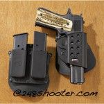 1911 with Dual Mag Pouch. Full Fobus Review at 248Shooter
