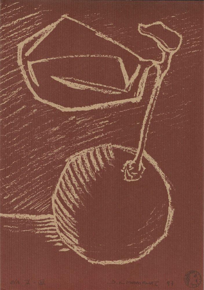 "Dimitris Milionis - Original limited numbered ""e.a"" Signed Litho Print Greek #Minimalism"