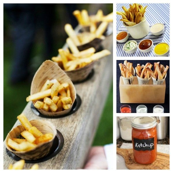 10 best images about french fry station on pinterest for Food bar russell