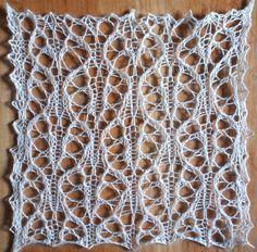 Raven: a free lace knitting stitch pattern                              …