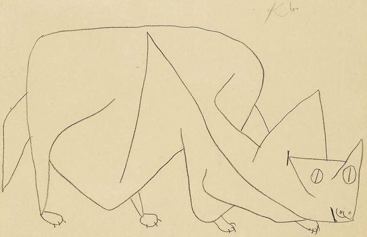 Paul Klee. Cat Lying in Wait. 1939: