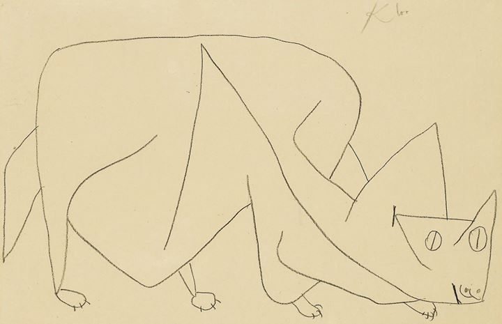 Paul Klee. Cat Lying in Wait. 1939: