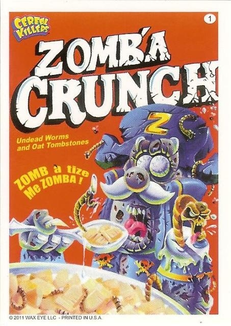 Zomb'a Crunch box from the Cereal Killers Trading Cards.