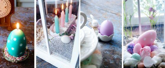Pääsiäinen  #pääsiäinen #pääsiäisherkkuja #kynttilä #raikaskevät #pääsiäiskattaus #puttipaja #narsissi #pääsiäiskoriste #kotimainenkynttilä