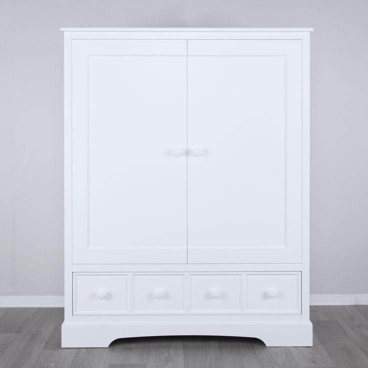 White wooden closet