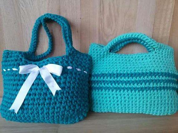 Elegant handmade handbag t-shirt yarn