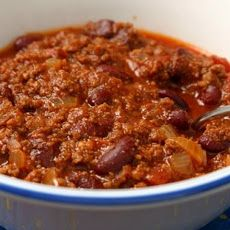Chili. I make this with V8 juice as a base for extra vitamins. I learned about this recipe back in 03' from a parenting group.