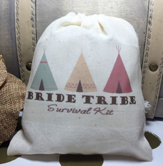 10 bachelorette survival kit drawstring bags by EverlongEvents